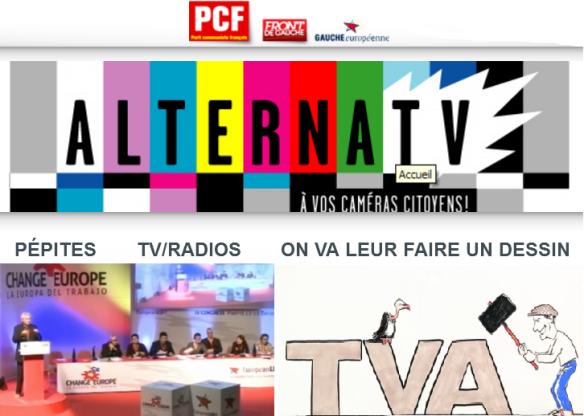 sur ALTERNATV le site média du PCF on vous fait un dessin pour une réforme de l'impôts utile et juste ... au menu aussi l'intervention de François Gau au congrès de la gauche européenne anti-capitaliste