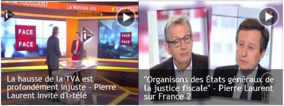 La hausse de la TVA est profondément injuste - Pierre Laurent invité Itélé  29 novembre 2013