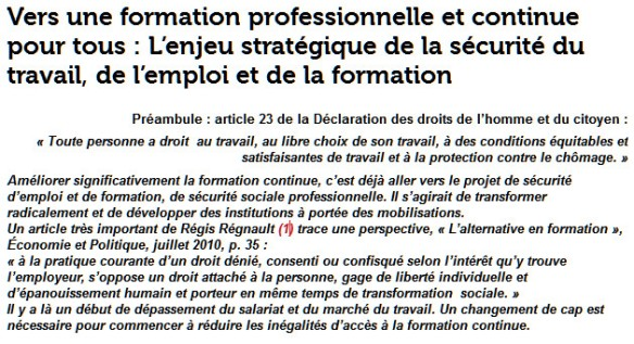 Travail emploi formation