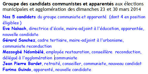 Groupe candidats