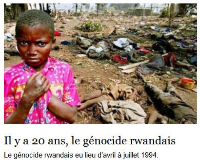 Dossier Humanité le génocide Rwandais