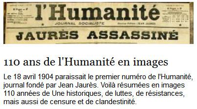 Les 110 ans de l'humanité