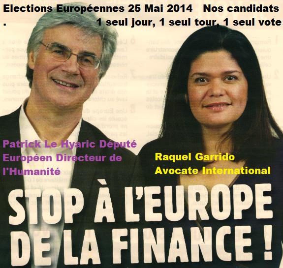 nos candidats élections européennes 25 mai 2014