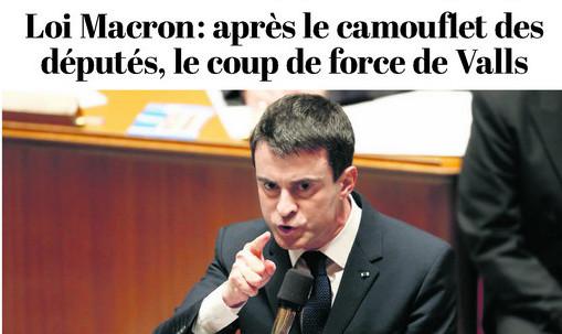 Valls la loi Macron sacrifier sa majorité