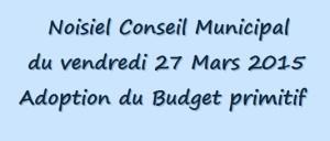 Conseil municipal 27 Mars