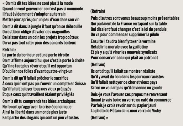 Jean Ferrat - La porte à droite - 1985    Publié dans l'Huma Dimanche du 4 au 10 Juin 2015