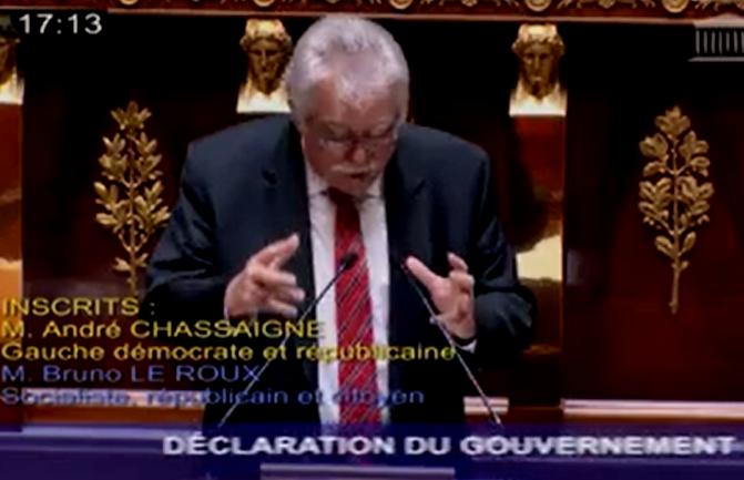Assemblée Nationale Déclaration d'André Chassaigne