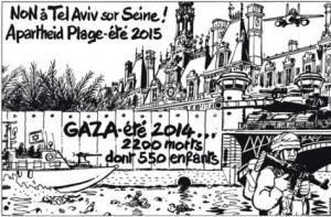La protestation de Tardi Auteur et dessinateur de bande dessinée TelAviv ParisPlage