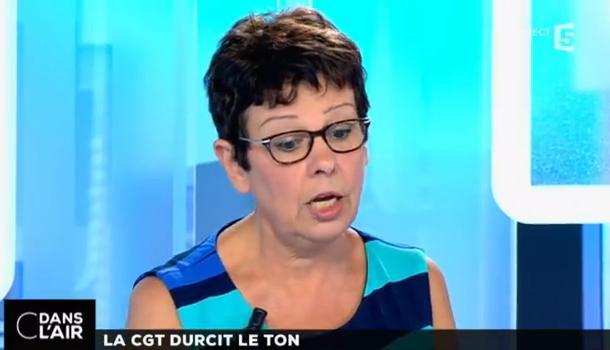 Maryse Dumas à C dans l'air du 15-10-2015 intitulé pour les 120 ans de la CGT