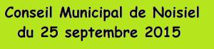 Noisiel Conseil Municipal du 25 septembre 2015