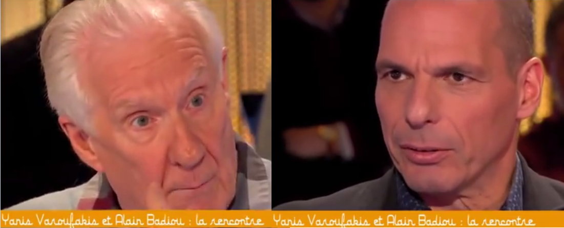 Yanis Varoufakis, Alain Badiou, capital