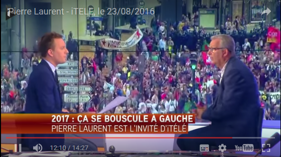 Rentree politique Pierre Laurent interview itele