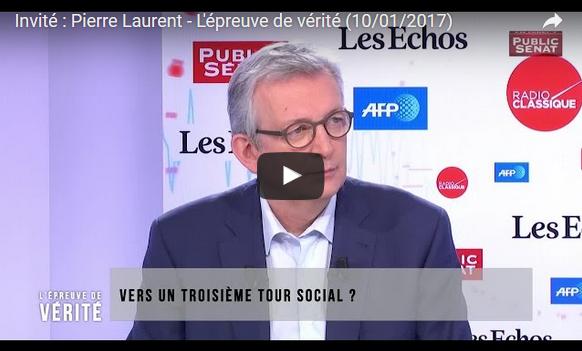 Pierre Laurent PCF élection présidentielle législatives 2017