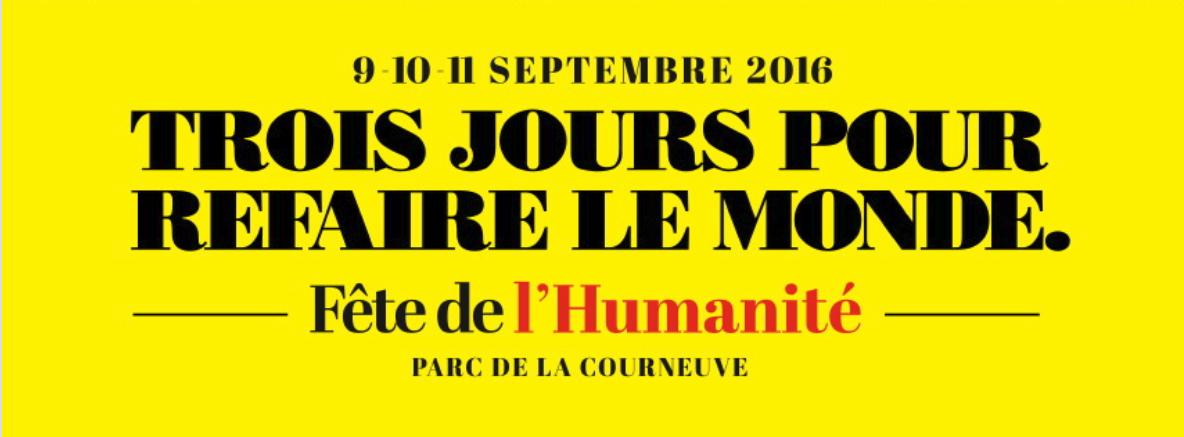 fête de l'humanité septembre 2016