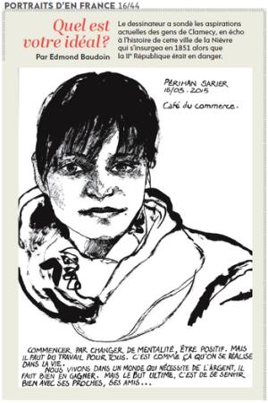 bande dessinée Edmond Baudoin Portraits Clamecy