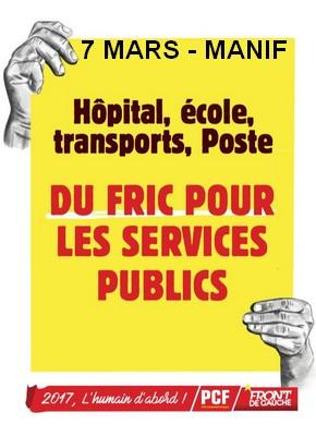 grève service fonction publique 07 mars
