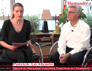 actualité 1er tour élection présidentielle 2017 Patrick Le Hyaric Député Européen l'Humanité