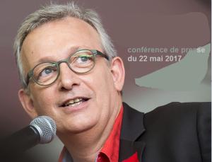 Pierre Laurent secrétaire national du PCF Conférence de presse/ Élections législatives Paris – 22 mai 2017