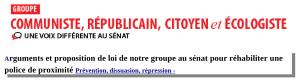 sénat police de proximité prévention dissuasion répression
