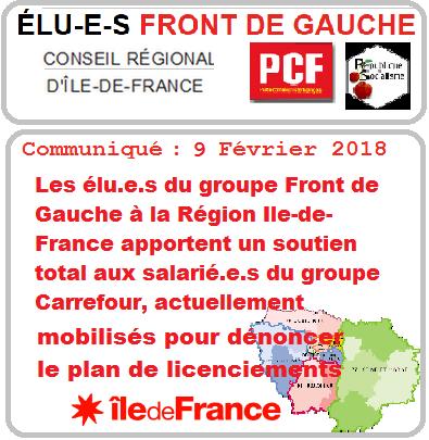Pécresse Ile De France Carrefour licenciement