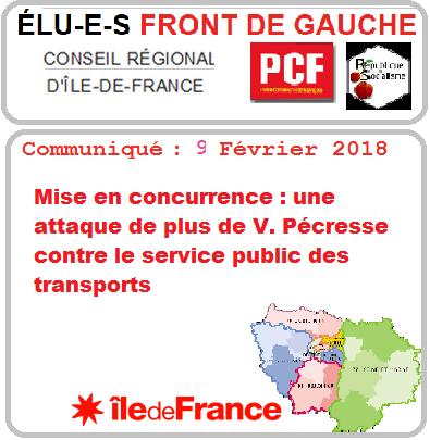 front de gauche idf transport concurence