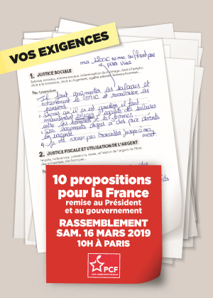 10 propositions 16 mars 2019