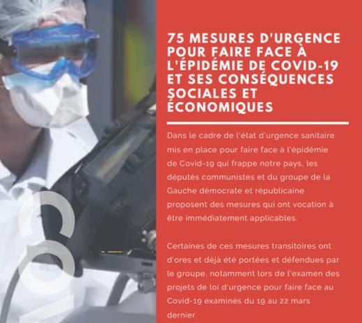 covid-19 75 mesures d'urgences