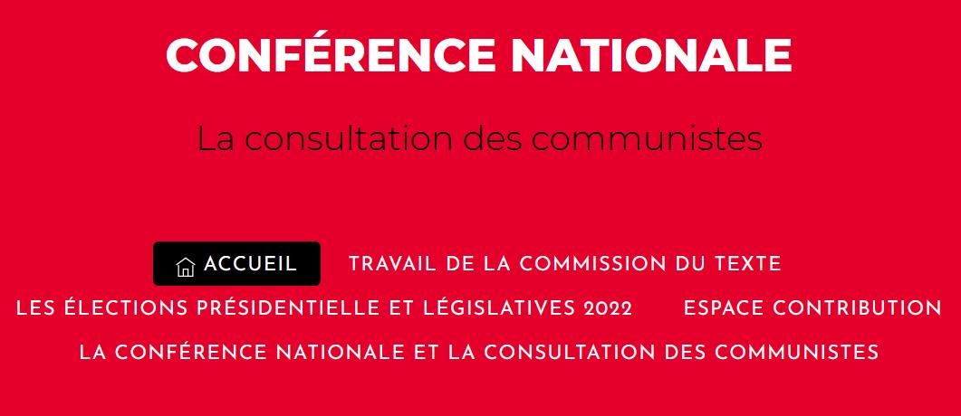 conférence nationale communistes élection présidentielle