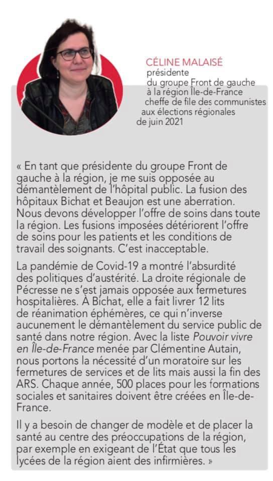 régionales Ile de France Ile-de-France juin 2021 Céline Malaisé
