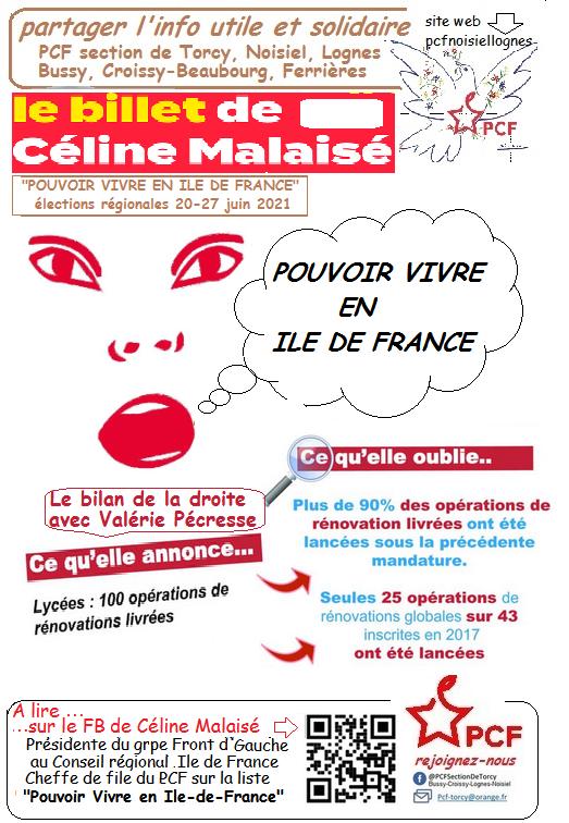 Bilan Pécresse Rénovation Lycée
