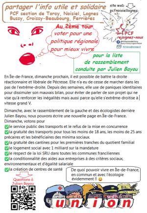 élections Régionales Ile de France 2021